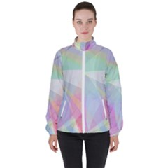 Colorfull Curves High Neck Windbreaker (women)