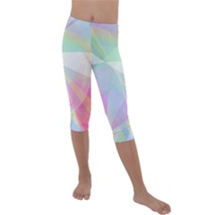Colorfull Curves Kids  Lightweight Velour Capri Leggings  by TimelessFashion