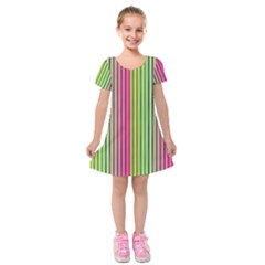 Colorfull Design Kids  Short Sleeve Velvet Dress by TimelessFashion