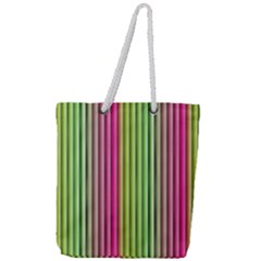 Colorfull Design Full Print Rope Handle Tote (large) by FEMCreations