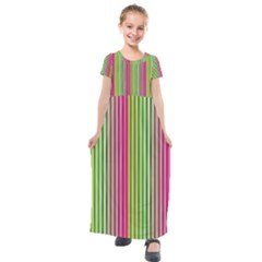 Colorfull Design Kids  Short Sleeve Maxi Dress by TimelessFashion