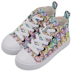 Colorfull Hearts Kids  Mid Top Canvas Sneakers by TimelessFashion