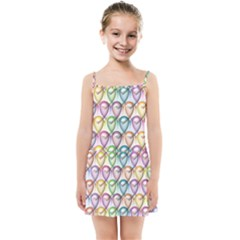 Colorfull Hearts Kids  Summer Sun Dress