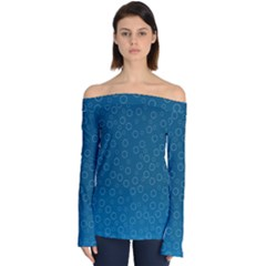 Cool Bubbles Off Shoulder Long Sleeve Top by TimelessFashion