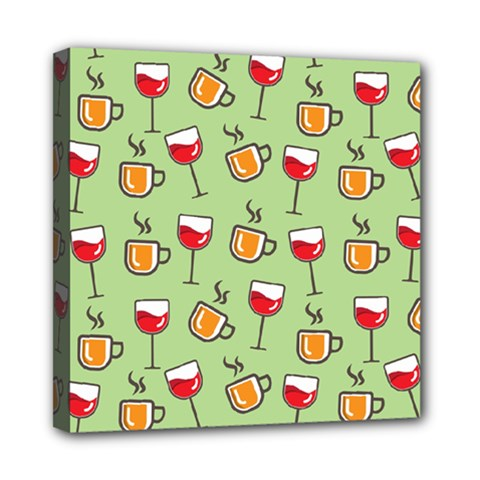Cups And Glasses Mini Canvas 8  X 8  (stretched)