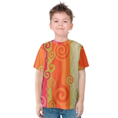 Curly Stripes Kids  Cotton Tee