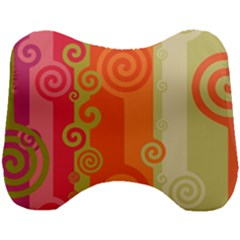 Curly Stripes Head Support Cushion