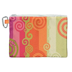 Curly Stripes Canvas Cosmetic Bag (xl)
