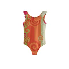 Curly Stripes Kids  Frill Swimsuit
