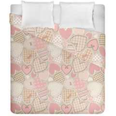 Cute Hearts Duvet Cover Double Side (california King Size) by FEMCreations