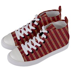 Cute Pattern  Women s Mid Top Canvas Sneakers by TimelessFashion
