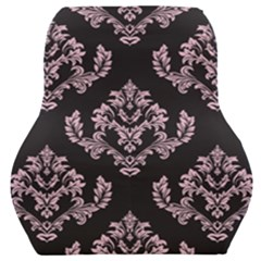 Damask Pink On Black Car Seat Back Cushion