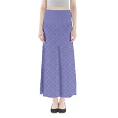 Damask In Blue Full Length Maxi Skirt by TimelessFashion