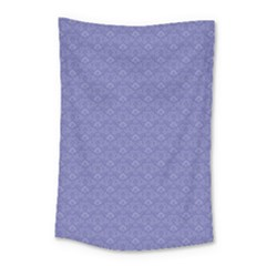 Damask In Blue Small Tapestry