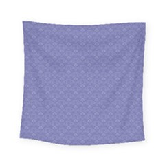 Damask In Blue Square Tapestry (small) by TimelessDesigns