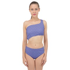Damask In Blue Spliced Up Two Piece Swimsuit by TimelessFashion