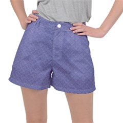 Damask In Blue Stretch Ripstop Shorts by TimelessFashion