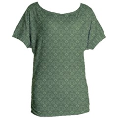 Damask In Green Women s Oversized Tee by TimelessFashion