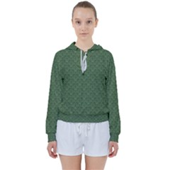 Damask In Green Women s Tie Up Sweat by TimelessFashion