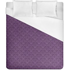 Damask In Purple Duvet Cover (california King Size) by TimelessDesigns