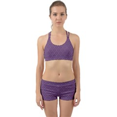 Damask In Purple Back Web Gym Set by TimelessFashion