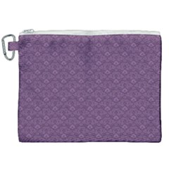 Damask In Purple Canvas Cosmetic Bag (xxl)