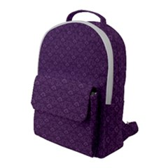 Damask In Purple Flap Pocket Backpack (large) by TimelessFashion