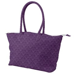 Damask In Purple Canvas Shoulder Bag by TimelessFashion