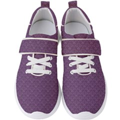 Damask In Purple Men s Velcro Strap Shoes by FEMCreations