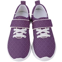 Damask In Purple Women s Velcro Strap Shoes by TimelessFashion