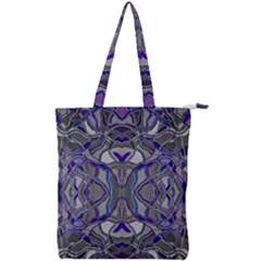 Abstract #8   Iii   Blue Pop 6000 Double Zip Up Tote Bag