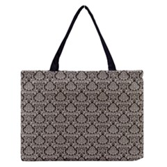 Dream In Damask  Zipper Medium Tote Bag by TimelessFashion