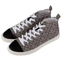 Dream In Damask  Men s Mid Top Canvas Sneakers by TimelessFashion