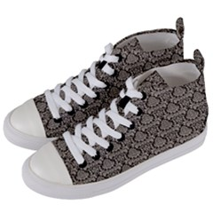 Dream In Damask  Women s Mid Top Canvas Sneakers by FEMCreations