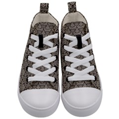 Dream In Damask  Kids  Mid Top Canvas Sneakers