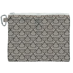 Dream In Damask  Canvas Cosmetic Bag (xxl)