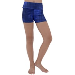 Fabric In Blue Kids  Lightweight Velour Yoga Shorts