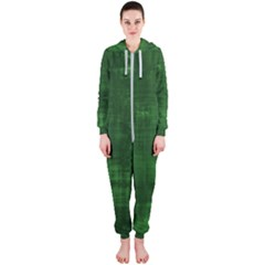 Fabric In Green Hooded Jumpsuit (ladies)  by TimelessFashion