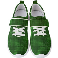 Fabric In Green Men s Velcro Strap Shoes by TimelessFashion