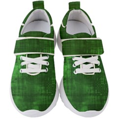 Fabric In Green Kids  Velcro Strap Shoes by TimelessFashion