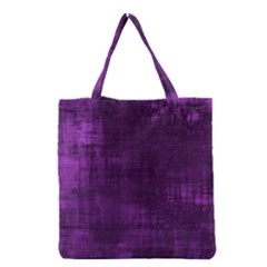 Fabric In Purple Grocery Tote Bag