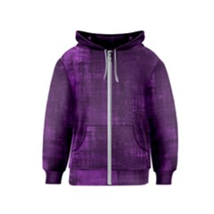 Fabric In Purple Kids  Zipper Hoodie