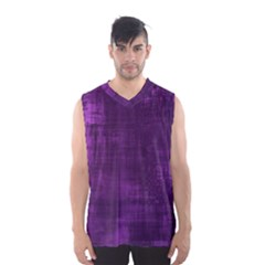 Fabric In Purple Men s Basketball Tank Top