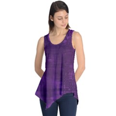 Fabric In Purple Sleeveless Tunic by TimelessFashion