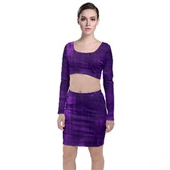 Fabric In Purple Top And Skirt Sets