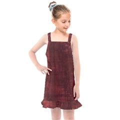 Fabric In Red Kids  Overall Dress by TimelessFashion