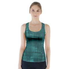 Fabric In Turquoise Racer Back Sports Top