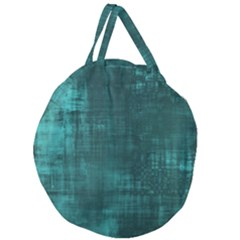 Fabric In Turquoise Giant Round Zipper Tote