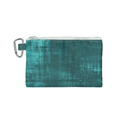 Fabric In Turquoise Canvas Cosmetic Bag (small)