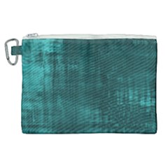 Fabric In Turquoise Canvas Cosmetic Bag (xl) by TimelessFashion